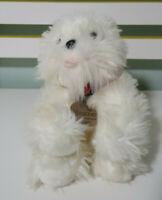 MALTESE PLUSH TOY DOG HEATHER KEEL TOYS WHITE DOG TOY STUFFED ANIMAL 20CM