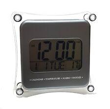 Haut LCD Numérique Réveil Montre de voyage Calendrier Date Température