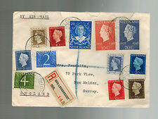 1948 Holland Netherlands Airmail cover to USA # 298