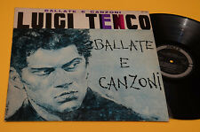 LUIGI TENCO LP BALLATE E CANZONI ITLAY 1965 NM TOP COLLECTORS