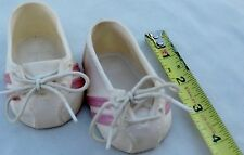 "White Pink 3 1/2"" Doll Clothes Sneaker Tie Shoes"