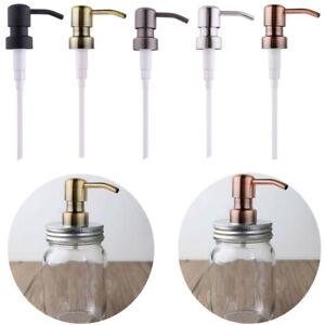 Pumpkopf Edelstahl Seifenspender Pumpe mit Tube für 28 mm Flaschen Einmachgläser