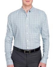 VAN HEUSEN Big & Tall Mens Blue Green Checks Button-Front Shirt NWT Size 4XL
