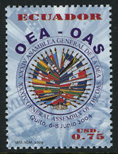 Ecuador 1709,MNH.34th General Assembly of the Org. of American States.Flags,2004