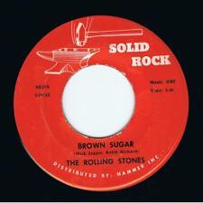 THE ROLLING STONES Brown Sugar Vinyl Record 7 Inch US Solid Rock SR10 1973