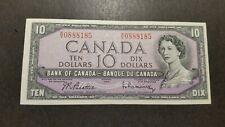 Canada,Ten Dollars Vintage Bank Note.1954.Queen Elizabeth II