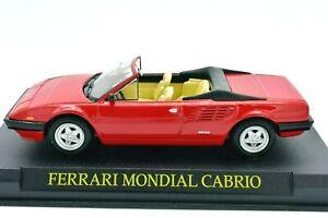 MODELLINI AUTO FERRARI SCALA 1/43 MONDIAL CABRIO DIECAST COLLEZIONE ASTA EDICOLA