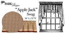 "Window Curtain - Apple Jack by Park Designs - Red Tan - Swag Pair 36""L x 72""W"
