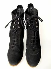 Zara zapatos talla. 41 serraje negro Platform muy cómodo Shoe