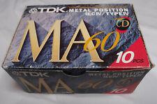TDK MA-60 METAL POSITION TYPE IV SUPER PRECISION CASSETTE PACK OF 10 SEALED