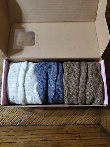 TeeHee Gift Box Women's Fashion Leg Warmers 3-Pack Assorted Colors
