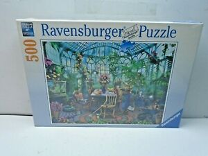 """Ravensburger #148325 """"In The Greenhouse"""" 500 Piece Puzzle 19 1/3"""" X 14 1/4"""""""