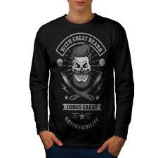 Wellcoda Great Beard Style Funny Mens Long Sleeve T-shirt,  Graphic Design