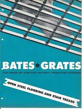MRO Brochure - Bates Grates - Open Steel Flooring Stair Treads -  c1952 (MR82)