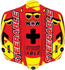 Wow Watersports Inflatable Steerable Towable - 2 Person 19-1090 Nib Covered