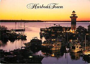 Harbor Town Hilton Head Island South Carolina SC pm 2000 lighthouse Postcard