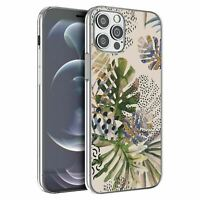 For iPhone 12 & 12 Pro Silicone Case Nature Leafs Art Print - S6922
