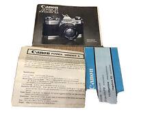 Canon AE1 Libretto istruzioni