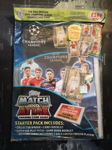 topps match attax 15/16 Champions league starter pack with Ronaldo Gold Ltd New