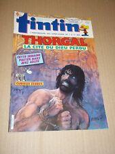 "MAGAZINE ""TINTIN, no 592"" (1987) THORGAL / POSTER MARS"