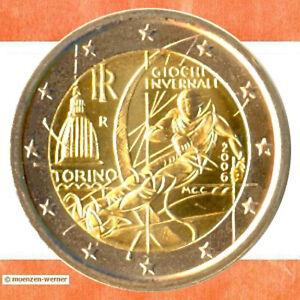 Sondermünzen Italien: 2 Euro Münze 2006 Olympia Turin Sondermünze Gedenkmünze
