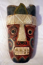 Vintage Primitive Ethnic Art Mask Hand Carved Indian?
