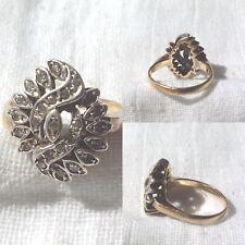 Anello anni '30  in Oro, Argento, Diamanti Taglio Brillante