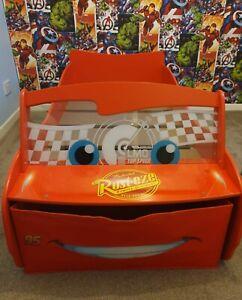 Lightning McQueen Disney Cars Kids Toddler Bedwith Night Light