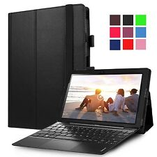 High Quality PU Leather Portfolio Stand Cover Case for Lenovo Miix 320 Tablet Black