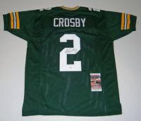 PACKERS Mason Crosby signed custom green jersey w/ #2 JSA COA AUTO Autographed