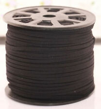 3M Black leather Suede Cord Beading Thread Lace Flat Making Jewellery