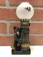Small Vintage Norcrest Japan Hand Painted Pottery Bar Oil Lamp Man Cave Clown