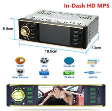 4.1'' 1-DIN Car Stereo Radio Bluetooth In-Dash HD MP5 MP3 USB Player Camera 12V