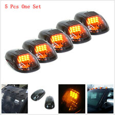 5pc 9LED Amber Smoked SUV RV Truck Pickup 4X4 Cab Roof Top Running Marker Lights