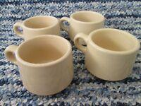 Mid Century diner Inca Ware/Shenango china USA coffee mug-lot of 4 vintage 1930s
