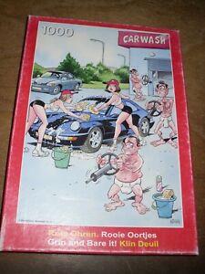 PUZZLE 1000 pièces, complet :  humour : CARWASH (le lavage de voiture)