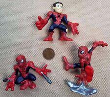 Marvel lot 3 Spider-man SUPER HERO SQUAD Mini Figures Unmasked Spiderman