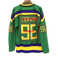 Customize Movie Jersey Your Name Your Number The Mighty Ducks Slap Shot Hockey