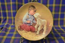 "Cute Hamilton Collection1985 Abbie Willuams Plate-""Getting Acquainted""-Lass/Lam b"