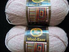 Lion Brand Wool-Ease wool blend yarn, Blush Heather, lot of 2 (197 yds each)