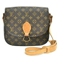 Authentic Louis Vuitton Monogram Shoulder Crossbody Bag Saint Cloud GM Brown LV