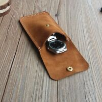 Vintage Retro Unisex Soft Genuine Cow Leather Travel Watch Pouch Case MINI Bag