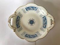 Coalport, Bone China, 'Revelry' 19cm Earred Dish, Blue & White