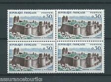 CHÂTEAU DE FOUGÈRES - 1960 YT 1236 bloc de 4 - NEUFS** LUXE - COTE 12,00 €