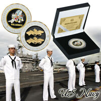 WR US Navy 24K Gold Art Crafts Collection Coin Anniversary Souvenir Gifts Set
