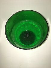 "Vintage Hoosier Glass Company Green 5.75"" Textured Pattern Compote"