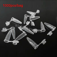 New 1000pcs/bag 0.2ml Plastic Test Vials Sample Micro Centrifuge Tube With Cap