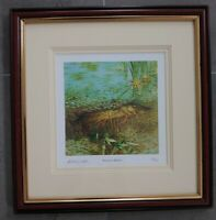 Framed Signed by artist Limited Edition Print Summers Shadow Fishing Angler Fish