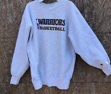 Vintage Champion Reverse Weave NBA Warriors Basketball Sweatshirt L gray
