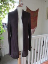 River Island Ladies Long Sleeve pockts Knitted Cardigan Maroon Size S.